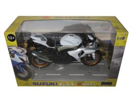 Suzuki GSX R 1000 White/Silver Motorcycle Model 1/12 Automaxx 600801