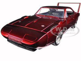 "1969 Dodge Charger Daytona Red ""Fast & Furious 7"" Movie 1/24 Diecast Model Car Jada 97060"