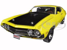 1970 Ford Torino Cobra 429 CJ Hemmings Bright Yellow Limited Edition 1254pc 1/18 Diecast Car Model Autoworld AMM104