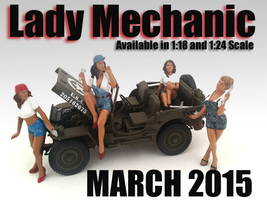 "Lady Mechanics"" 4 Piece Figure Set For 1:18 Scale Models American Diorama 23859-23860-23861-23862"