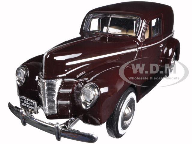 1940 Ford Sedan Delivery Brown 1/24 Diecast Model Car Motormax 73250brn