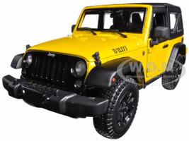 2014 Jeep Wrangler Willys Yellow 1/18 Diecast Model Car Maisto 31676