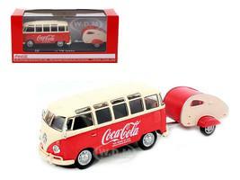 1962 Volkswagen Samba Bus 100 Years Anniversary of the Coca Cola Bottle 1/43 Motorcity Classics 467433