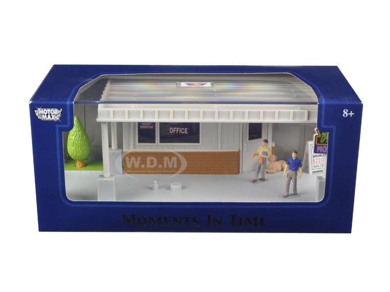 "Big 8 Motel Scene"" Diorama Put Your Own Car Inside 1/43 Motormax 73863 N"