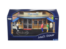 Mel's Diner Diorama Put Your Own Car Inside 1/64 Motormax 73639 M
