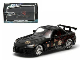 "Johnny's 2000 Honda S2000 Black ""The Fast and The Furious"" Movie (2001) 1/43 Diecast Model Car Greenlight 86205"