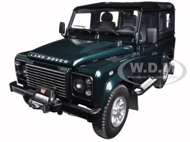 1984 Land Rover Defender 90 Antree Green 1/18 Diecast Model Car Kyosho 08901