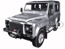 1984 Land Rover Defender 90 Indus Silver 1/18 Diecast Model Car Kyosho 08901