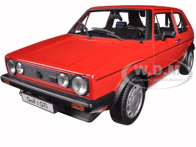 Volkswagen Golf 1 GTI Red 1/18 Diecast Model Car Welly 18039