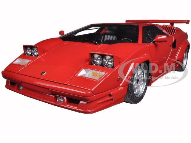 Lamborghini Countach 25th Anniversary Edition Red 1 18 Diecast