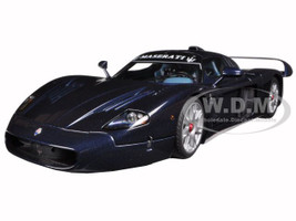 Maserati MC12 Road Car Metallic Blue 1/18 Diecast Model Car AutoArt 75802
