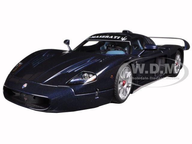Maserati MC12 Road Car Metallic Blue 1/18 Diecast Model Car AutoArt 75802