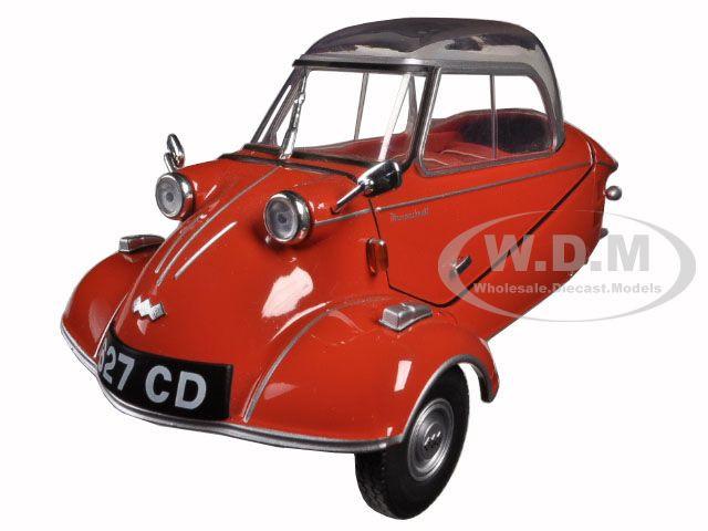 Messerschmitt KR200 Bubble Car Sardinian Red 1/18 Diecast Model Car Oxford Diecast 18MBC001