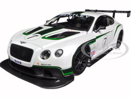 Bentley Continental GT3 White #7 1/24 Diecast Model Car Bburago 28008