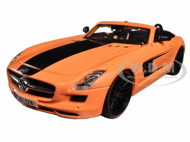 Mercedes SLS AMG Roadster Orange Custom 1/24 Diecast Model Car Maisto 31370