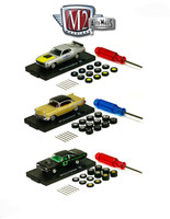 Auto Wheels 3 Cars Set Release 1 IN BLISTER PACK 1/64 Diecast Model Cars M2 Machines 34001-01