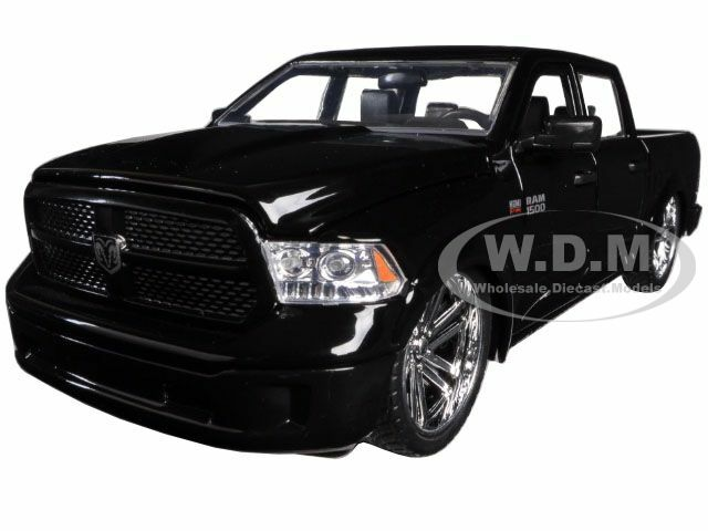 2014 RAM 1500 Pickup Truck Custom Edition Black Just Trucks Series 1/24 Diecast Model Car Jada 54040
