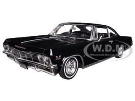 1965 Chevrolet Impala Black Low Rider 1/24 Diecast Model Car Welly 22417