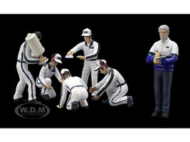 Pit Crew Figurines Martini Racing Set of 6 for 1/43 Scale Models True Scale Miniatures 10AC06