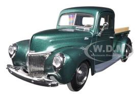 1940 Ford Pickup Truck Green 1/24 Diecast Model Car Motormax 73234