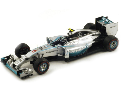 2014 GP Monaco Winner Mercedes Petronas F1 W05 #6 Nico Rosberg Formula 1 1/18 Model Car by Spark 18S141