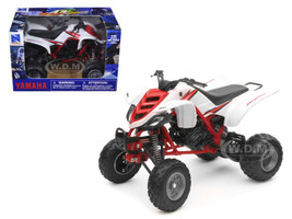 2005 Yamaha 660R Raptor White/Red ATV Motorcycle 1/12 Diecast Model New Ray 42923