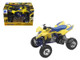 Suzuki Quad Racer R450 Yellow/Blue ATV Motorcycle 1/12 Diecast Model New Ray 43393