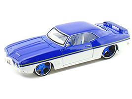 "1969 Pontiac Firebird Blue / White ""All Stars"" 1/24 Diecast Model Car Maisto 31040"