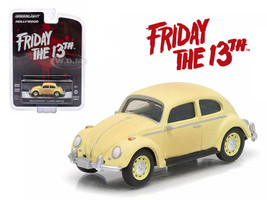 "1963 Volkswagen Beetle ""Friday The 13th Part III"" (1982) Movie Hollywood Series 9 1/64 Diecast Model Car Greenlight 44690 D"