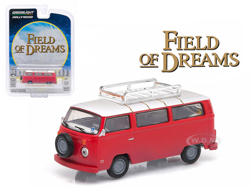 "1973 Volkswagen Type 2 (T2B) Bus ""Field of Dreams"" (1989) Movie Hollywood Series 9 1/64 Diecast Model Greenlight 44690 E"
