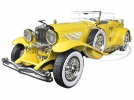 1934 Duesenberg II SJ Yellow The Great Gatsby 2013 Movie 1/18 Diecast Model Car Greenlight 12927