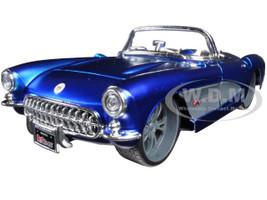 1957 Chevrolet Corvette Blue Custom 1/24 Diecast Model Car Maisto 31323