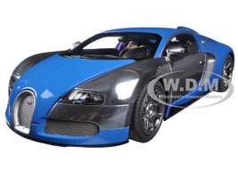 Bugatti EB Veyron L'Edition Centenaire French Blue/Jean-Pierre Wimille 1/18 Diecast Model Car Autoart 70956