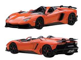Lamborghini Aventador Roadster J Arancio Argos Pearl Orange 1/43 Diecast Model Car Autoart 54652