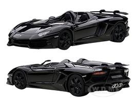 Lamborghini Aventador Roadster J Black 1/43 Diecast Model Car Autoart 54653