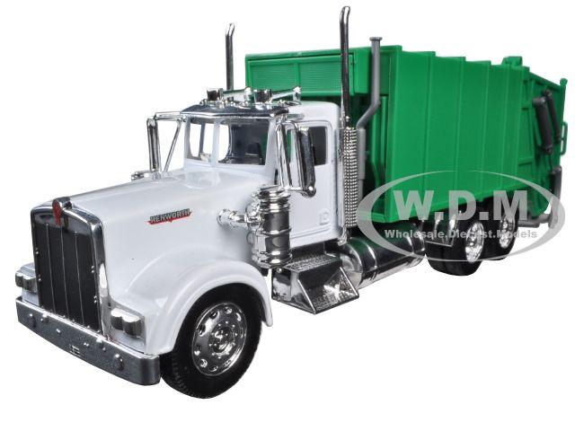 Kenworth W900 Garbage Truck 1/32 Diecast Model New Ray 10533 D