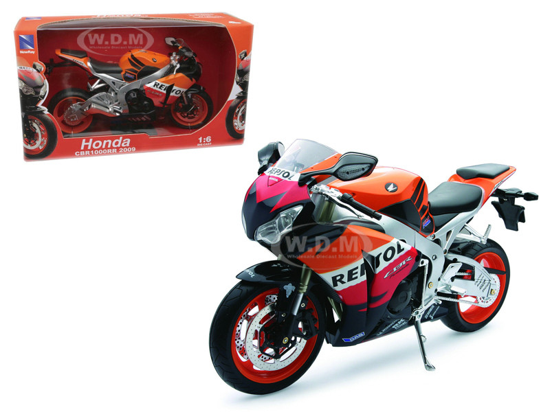 2009 Honda CBR1000RR Repsol Motorcycle 1/6 Diecast Model New Ray 49073