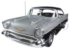 Carquest 1957 Chevrolet Bel Air Black wtih Silver 1/25 Diecast Model Car First Gear 40-0105