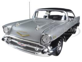 1957 Chevrolet Bel Air Silver Black Carquest Special Show Edition 1/25 Diecast Model Car First Gear 40-0105