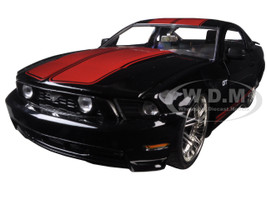 2010 Ford Mustang GT Black With Red Stripes 1/24 Diecast Model Car Jada 96868