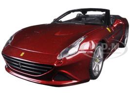 Ferrari California T Burgundy Open Top 1/24 Diecast Model Car Bburago 26011
