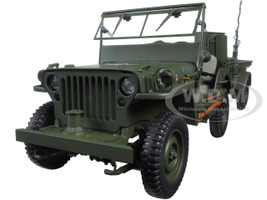 Jeep Willys Army Green Trailer Accessories 1/18 Diecast Model Autoart 74016