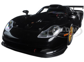 1997 Porsche 911 GT1 Plain Body Version Black 1/18 Diecast Model Car Autoart 89770