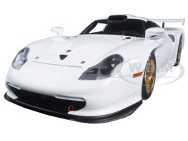 1997 Porsche 911 GT1 Plain Body Version White 1/18 Diecast Model Car Autoart 89771