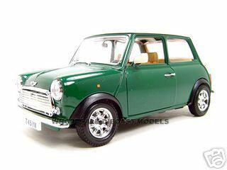 1969 Old Mini Cooper Green 1/18 Diecast Model Car Bburago 12036