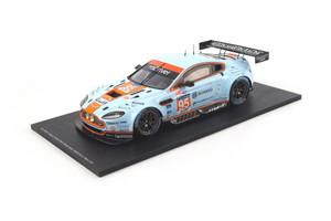 "Aston Martin Vantage V8 ""Gulf"" #95 Winner GTE AM Le Mans 2014 K. Poulsen- D.H.Hansson- N.Thiim 1/18 Model Car Spark 18S152"