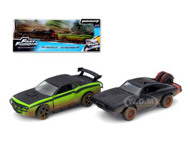 """Dom's 1970 Dodge Charger R/T Off Road and Letty's Dodge Challenger SRT8 """"Fast & Furious 7"""" Movie Set of 2 Cars 1/32 Diecast Model Cars Jada 97340"""