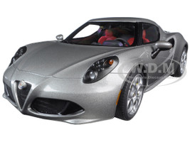 Alfa Romeo 4C Metallic Grey 1/18 Model Car Autoart 70187