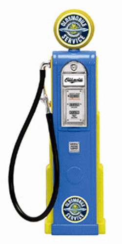 Oldsmobile Vintage Gas Pump Digital for 1/18 Scale Diecast Cars Road Signature 98701