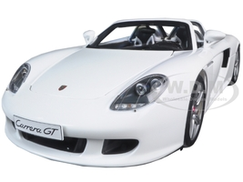 Porsche Carrera GT White 1/18 Diecast Model Car Autoart 78045